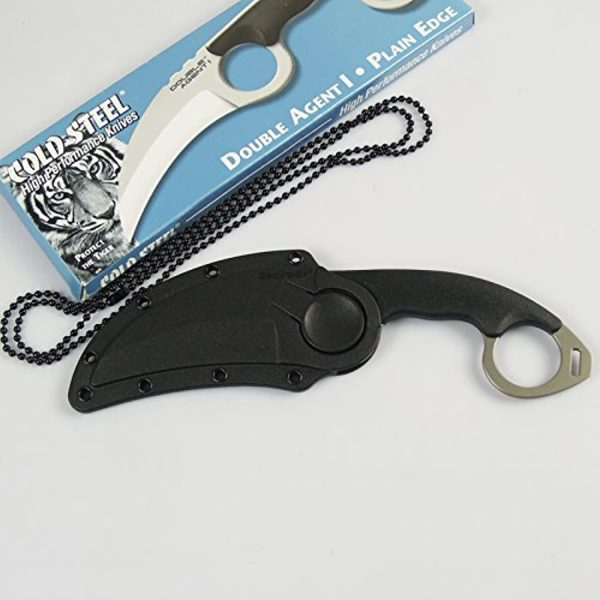 51JHrvGtPUL. AC US1500 Cold Steel Double Agent I Clip Point Style Neck Knife