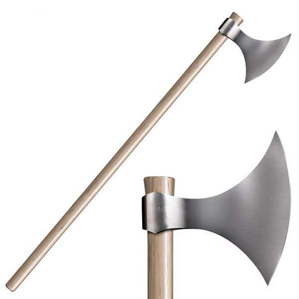 89VA 1 COLD STEEL Viking Axe 52 Overall Hickory Handle