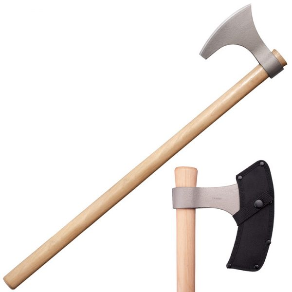 90WVBA 1 Cold Steel Viking Hand Axe 30 Overall Hickory Handle